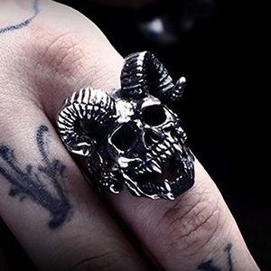 Other - Stainless Steel Punk Silver Skull Ring